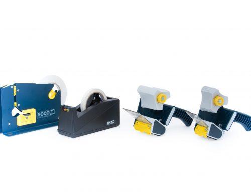 Dispensador de cinta y máquina para cerrar bolsas