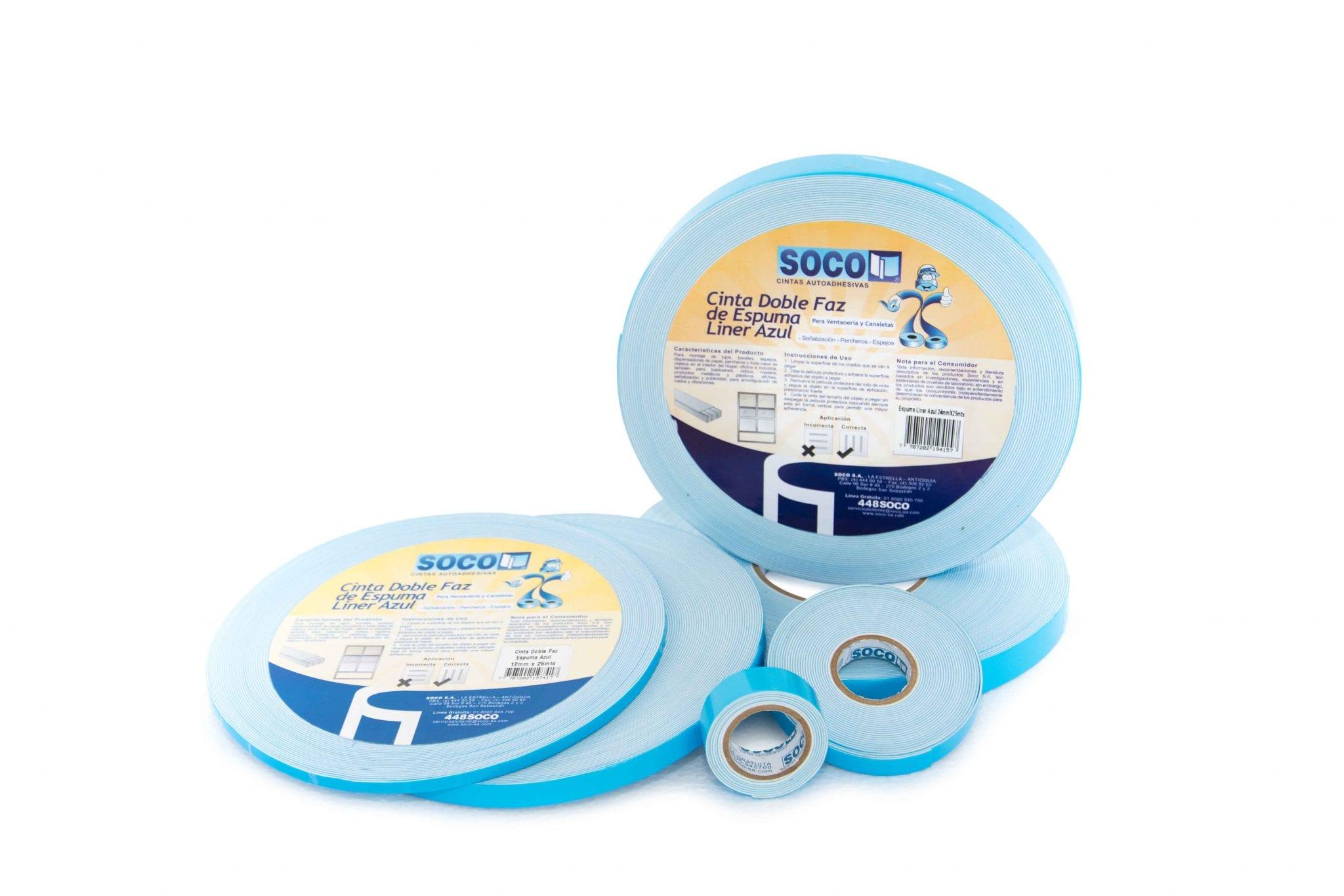 cinta-doble-faz-espuma-polietileno-liner-azul