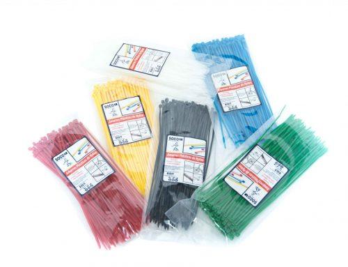 Amarres plásticos de colores